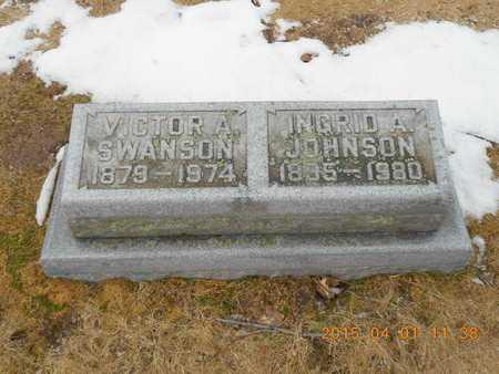 SWANSON, VICTOR A. - Marquette County, Michigan   VICTOR A. SWANSON - Michigan Gravestone Photos