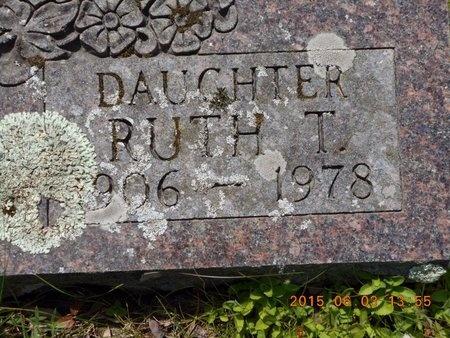 TAFT, RUTH T. - Marquette County, Michigan   RUTH T. TAFT - Michigan Gravestone Photos