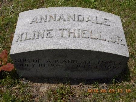 THIELL, JR., ANNANDALE KLINE - Marquette County, Michigan | ANNANDALE KLINE THIELL, JR. - Michigan Gravestone Photos