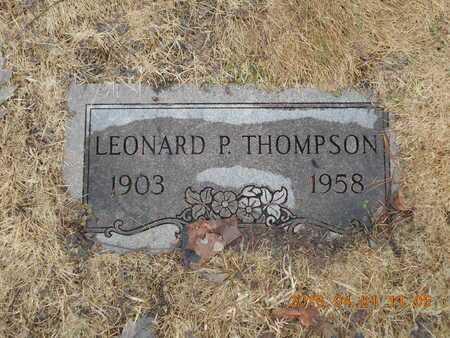 THOMPSON, LEONARD P. - Marquette County, Michigan | LEONARD P. THOMPSON - Michigan Gravestone Photos