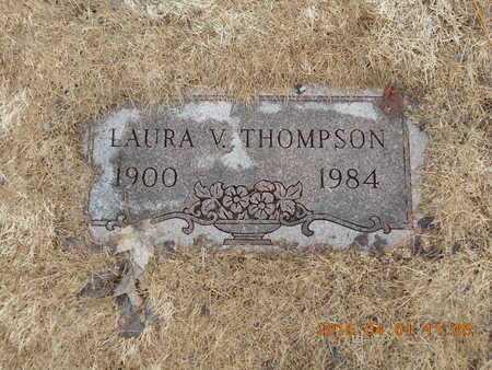 THOMPSON, LAURA V. - Marquette County, Michigan | LAURA V. THOMPSON - Michigan Gravestone Photos