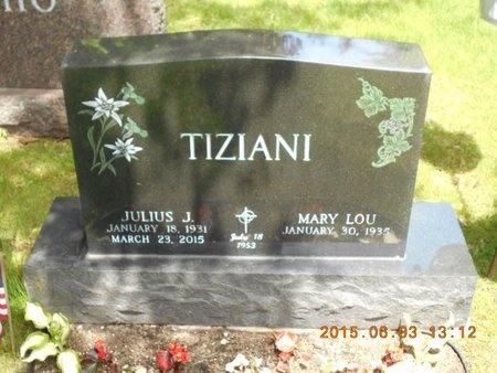 TIZIANI, JULIUS J. - Marquette County, Michigan   JULIUS J. TIZIANI - Michigan Gravestone Photos