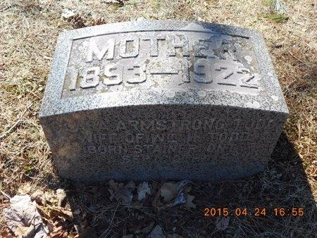 ARMSTRONG TODD, CLARA - Marquette County, Michigan | CLARA ARMSTRONG TODD - Michigan Gravestone Photos