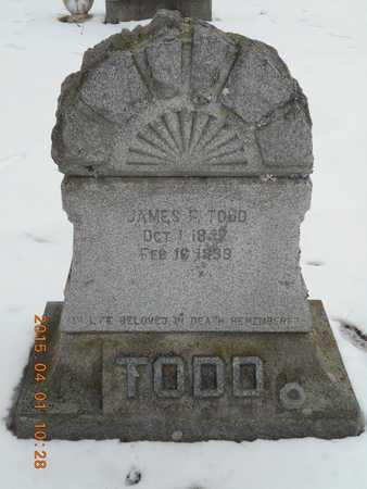 TODD, JAMES F. - Marquette County, Michigan | JAMES F. TODD - Michigan Gravestone Photos