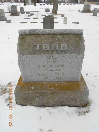 TODD, MARY A. - Marquette County, Michigan | MARY A. TODD - Michigan Gravestone Photos