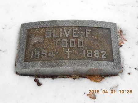 TODD, OLIVE F. - Marquette County, Michigan | OLIVE F. TODD - Michigan Gravestone Photos