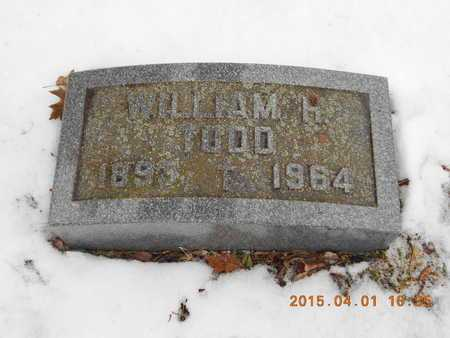 TODD, WILLIAM H. - Marquette County, Michigan | WILLIAM H. TODD - Michigan Gravestone Photos
