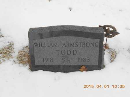 TODD, WILLIAM ARMSTRONG - Marquette County, Michigan | WILLIAM ARMSTRONG TODD - Michigan Gravestone Photos