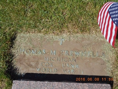 TREWHELLA, THOMAS MELVIN - Marquette County, Michigan | THOMAS MELVIN TREWHELLA - Michigan Gravestone Photos