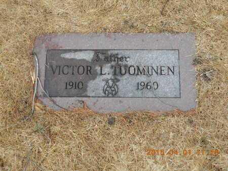 TUOMINEN, VICTOR L. - Marquette County, Michigan   VICTOR L. TUOMINEN - Michigan Gravestone Photos