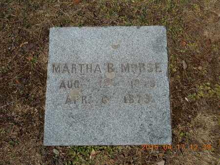 MORSE, MARTHA B. - Marquette County, Michigan | MARTHA B. MORSE - Michigan Gravestone Photos