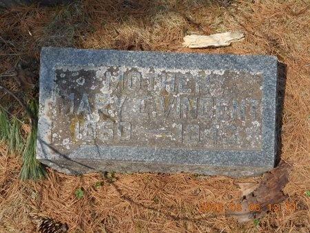 VINCENT, MARY E. - Marquette County, Michigan   MARY E. VINCENT - Michigan Gravestone Photos