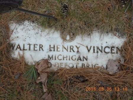VINCENT, WALTER HENRY - Marquette County, Michigan | WALTER HENRY VINCENT - Michigan Gravestone Photos