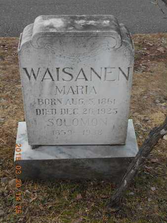 WAISANEN, MARIA - Marquette County, Michigan | MARIA WAISANEN - Michigan Gravestone Photos