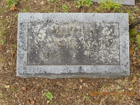 WARD, ANN M. - Marquette County, Michigan   ANN M. WARD - Michigan Gravestone Photos