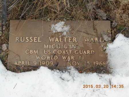 WARD, RUSSEL WALTER - Marquette County, Michigan | RUSSEL WALTER WARD - Michigan Gravestone Photos