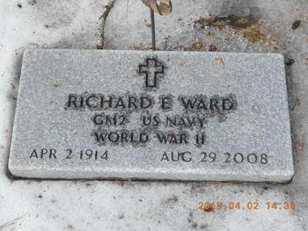 WARD, RICHARD E. - Marquette County, Michigan | RICHARD E. WARD - Michigan Gravestone Photos