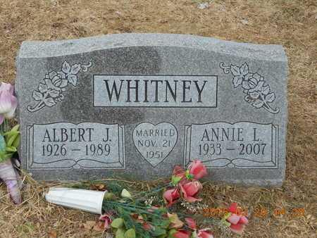 WHITNEY, ANNIE L. - Marquette County, Michigan | ANNIE L. WHITNEY - Michigan Gravestone Photos