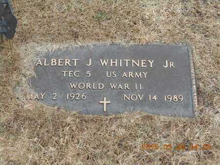 WHITNEY, JR., ALBERT J. - Marquette County, Michigan | ALBERT J. WHITNEY, JR. - Michigan Gravestone Photos