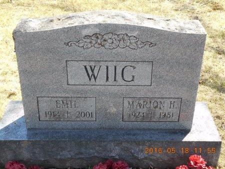 WIIG, MARION H. - Marquette County, Michigan | MARION H. WIIG - Michigan Gravestone Photos