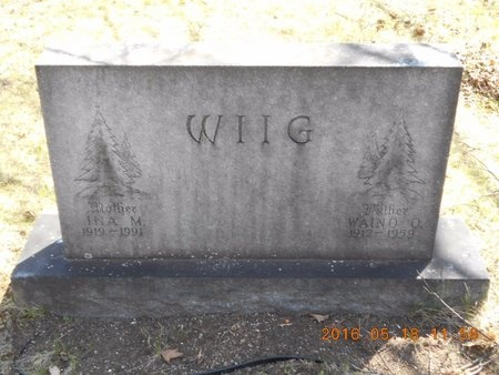 WIIG, INA M. - Marquette County, Michigan | INA M. WIIG - Michigan Gravestone Photos