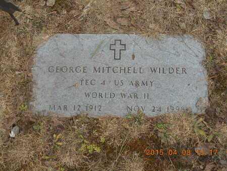 WILDER, SR., GEORGE MITCHELL - Marquette County, Michigan   GEORGE MITCHELL WILDER, SR. - Michigan Gravestone Photos