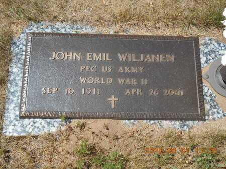WILJANEN, JOHN EMIL - Marquette County, Michigan | JOHN EMIL WILJANEN - Michigan Gravestone Photos