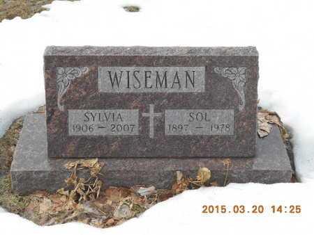 WISEMAN, SYLVIA - Marquette County, Michigan | SYLVIA WISEMAN - Michigan Gravestone Photos