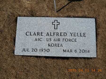 YELLE, CLARE ALFRED - Marquette County, Michigan | CLARE ALFRED YELLE - Michigan Gravestone Photos
