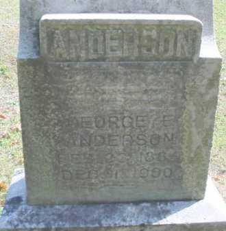 ANDERSON, GEORGE E. - Mecosta County, Michigan | GEORGE E. ANDERSON - Michigan Gravestone Photos