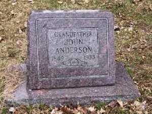 ANDERSON, JOHN - Mecosta County, Michigan | JOHN ANDERSON - Michigan Gravestone Photos