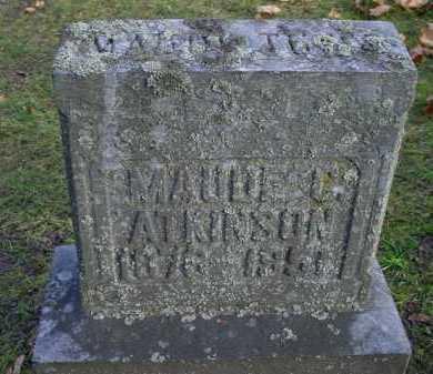 ATKINSON, MAUDE - Mecosta County, Michigan | MAUDE ATKINSON - Michigan Gravestone Photos