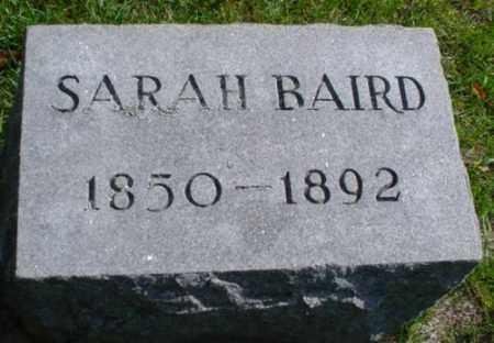 BAIRD, SARAH - Mecosta County, Michigan   SARAH BAIRD - Michigan Gravestone Photos