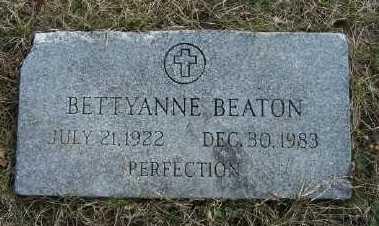 BEATON, BETTYANNE - Mecosta County, Michigan | BETTYANNE BEATON - Michigan Gravestone Photos