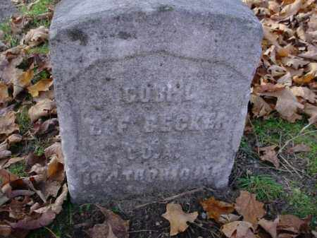 BECKER, ? F. - Mecosta County, Michigan | ? F. BECKER - Michigan Gravestone Photos