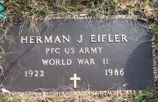 EIFLER, HERMAN J. - Mecosta County, Michigan | HERMAN J. EIFLER - Michigan Gravestone Photos