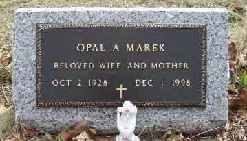 FICK MAREK, OPAL A. - Mecosta County, Michigan | OPAL A. FICK MAREK - Michigan Gravestone Photos
