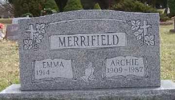 MERRIFIELD, EMMA - Mecosta County, Michigan | EMMA MERRIFIELD - Michigan Gravestone Photos