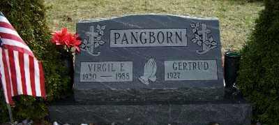 PANGBORN, VIRGIL E. - Mecosta County, Michigan | VIRGIL E. PANGBORN - Michigan Gravestone Photos