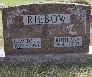 RIEBOW, RUTH A. - Mecosta County, Michigan | RUTH A. RIEBOW - Michigan Gravestone Photos