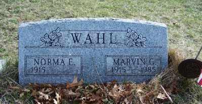 WAHL, MARVIN - Mecosta County, Michigan | MARVIN WAHL - Michigan Gravestone Photos