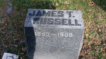 RUSSELL, JAMES T - Saginaw County, Michigan | JAMES T RUSSELL - Michigan Gravestone Photos