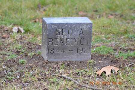 BENEDICT, GEORGE A. - St. Joseph County, Michigan   GEORGE A. BENEDICT - Michigan Gravestone Photos
