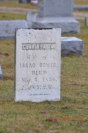 BOWER, CLARINDA A. - St. Joseph County, Michigan | CLARINDA A. BOWER - Michigan Gravestone Photos
