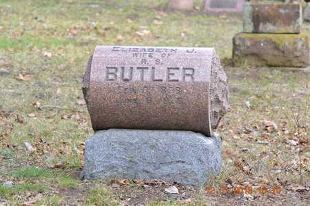 BUTLER, ELIZABETH J. - St. Joseph County, Michigan | ELIZABETH J. BUTLER - Michigan Gravestone Photos