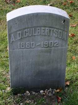 CULBERTSON, A.D. - St. Joseph County, Michigan | A.D. CULBERTSON - Michigan Gravestone Photos