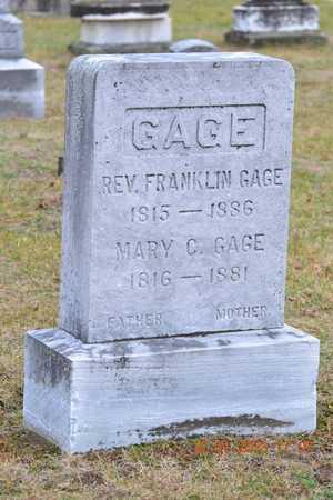 GAGE, MARY G. - St. Joseph County, Michigan | MARY G. GAGE - Michigan Gravestone Photos