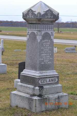 PELLETT LELAND, SARAH K. - St. Joseph County, Michigan | SARAH K. PELLETT LELAND - Michigan Gravestone Photos