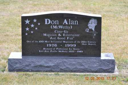 MCWETHY, DON ALAN - St. Joseph County, Michigan | DON ALAN MCWETHY - Michigan Gravestone Photos
