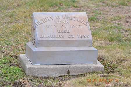 WHITMER, HENRY C. - St. Joseph County, Michigan | HENRY C. WHITMER - Michigan Gravestone Photos